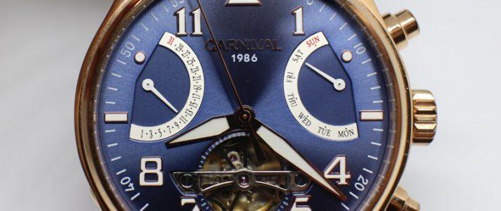 Мужские механические часы с турбийоном. Обзор механических часов I&W Carnival NO: 8783G