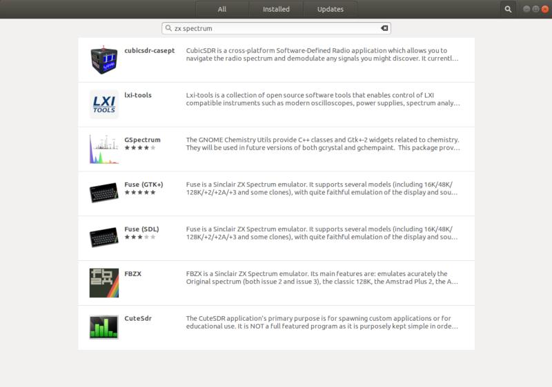 Загружаем эмулятор ZX Spectrum в Ubuntu