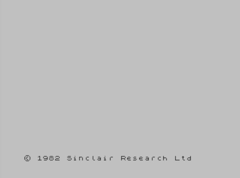 Начальный экран на ZX Spectrum