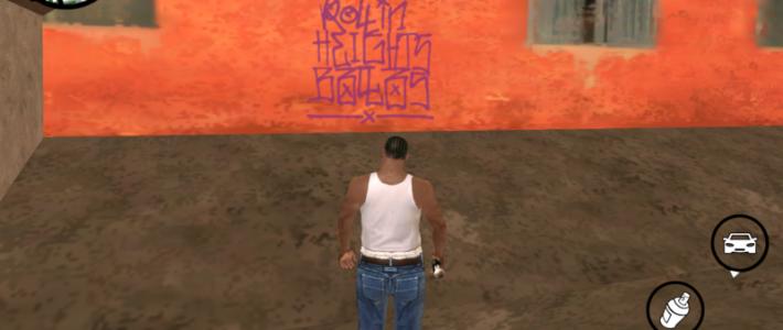 Подробная карта с граффити для GTA San Andreas (1-33)