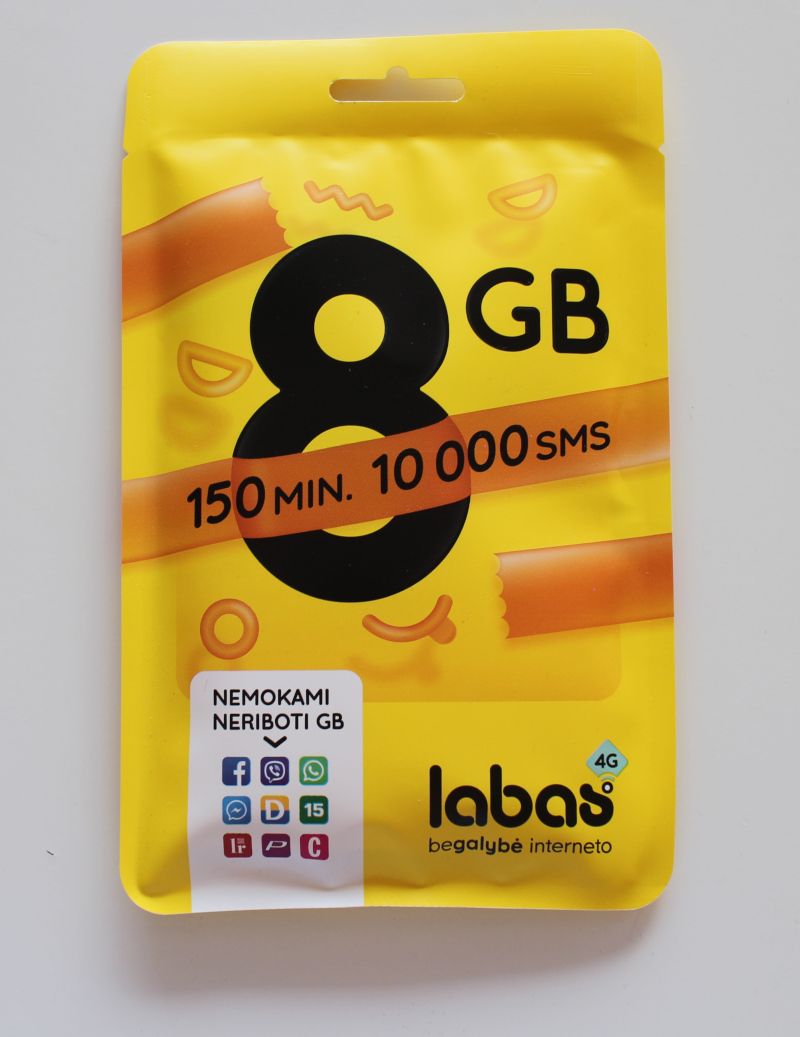 Лицевая сторона упаковки пакета связи Labas
