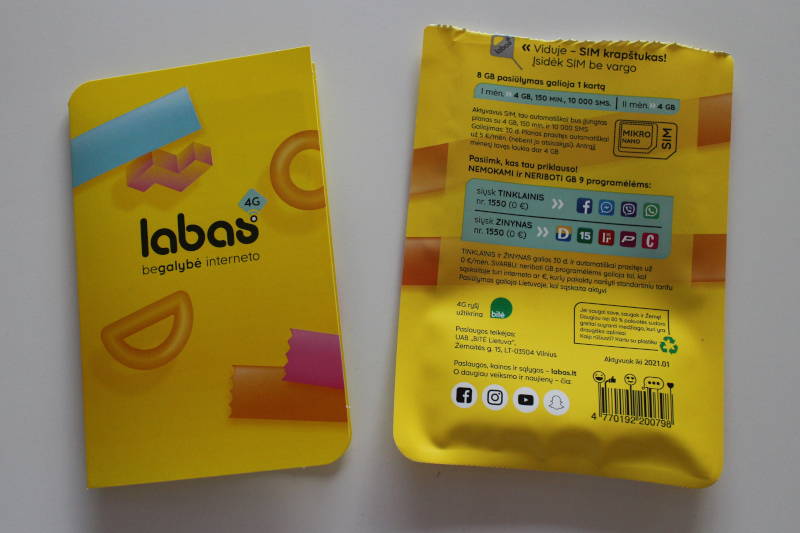 Содержимое упаковки пакета связи Labas