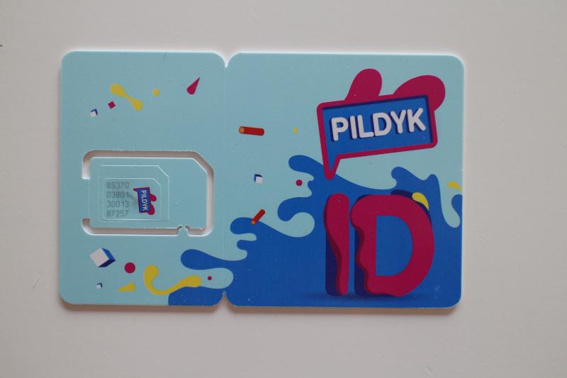 2 в 1: симкарта и карта для пополнения баланса Pildyk