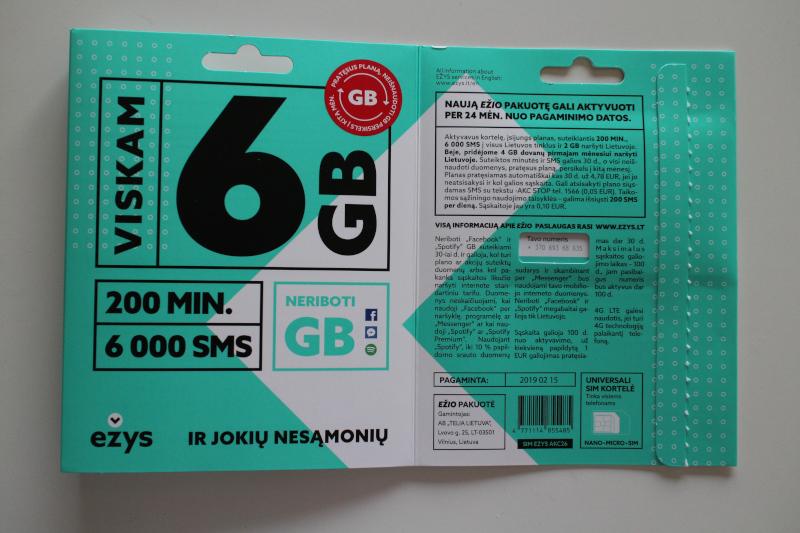 Содержимое упаковки пакета связи Ežys