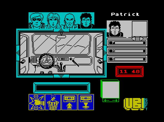 Вид из кабины грузовика в игре Zombi