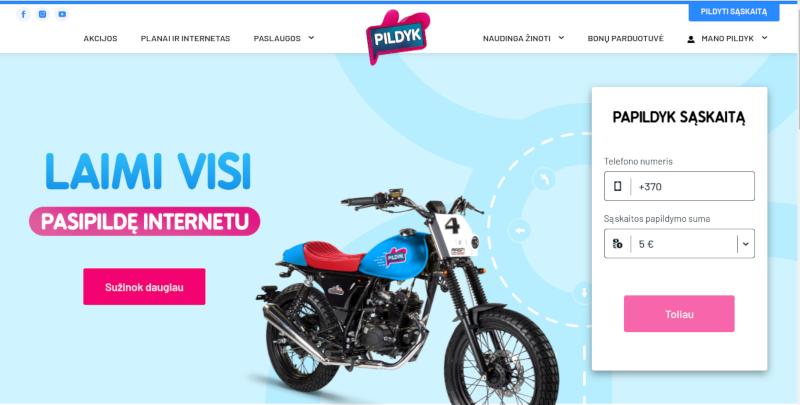 Официальная страница сайта Pildyk