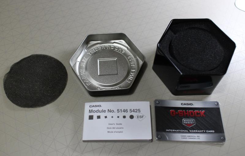 Содержимое упаковки часов Casio G-Shock GA-110GB