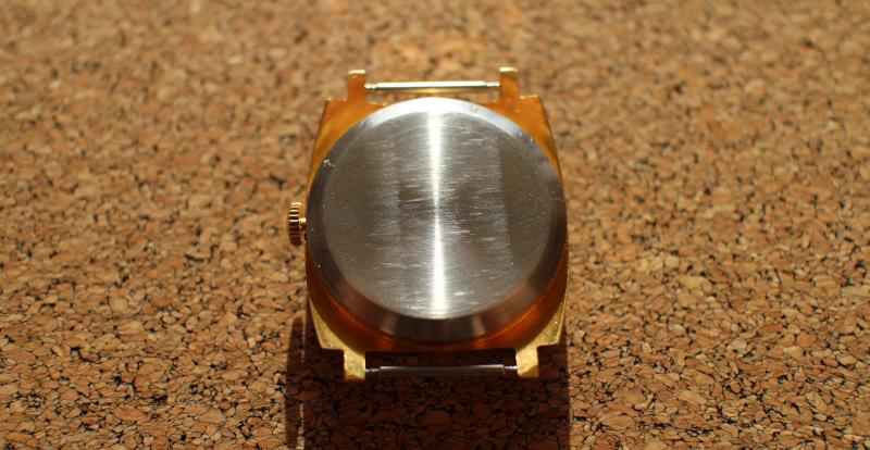 Задняя крышка часов ЗИМ с боковой секундной стрелкой и зеленым циферблатом Москва 80