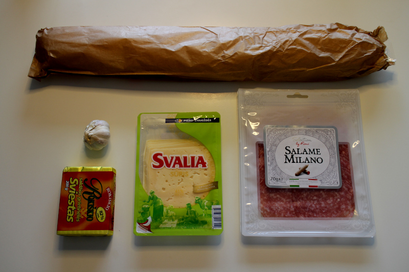 Ингредиенты для бутерброда