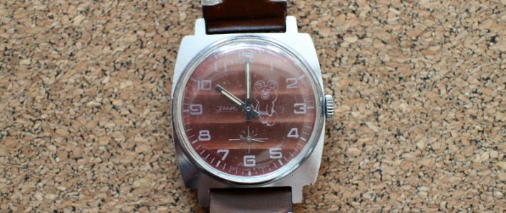 Final part: restoring a ZIM Summer Olympics 1980 watch with a red dial and Bear